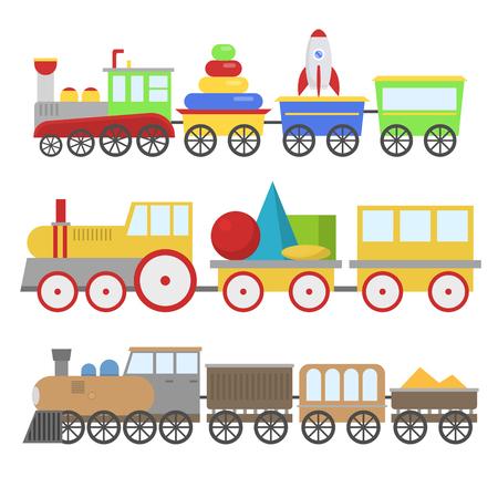漫画おもちゃの列車