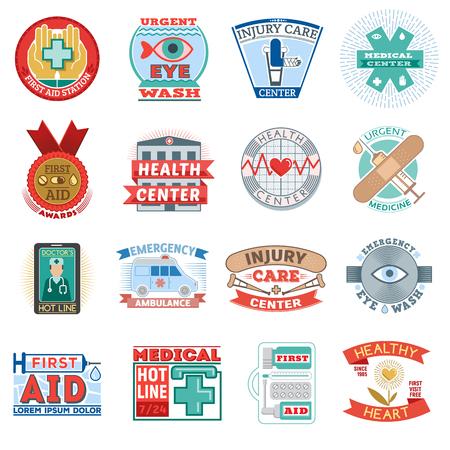 Medical health center clinic emblem Illustration