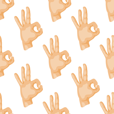 Hands deaf-mute seamless pattern gestures human arm people communication message vector illustration.