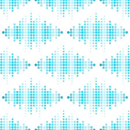 Vector digital music equalizer audio waves seamless pattern design template audio signal visualization signal illustration. Multitrack editing system soundtrack line bar spectrum electronic.