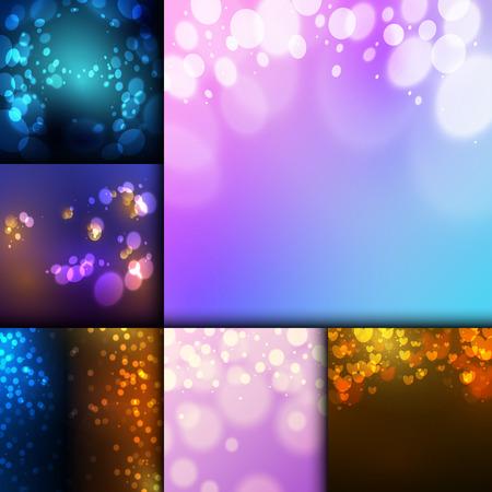 Creative bokeh abstract texture.