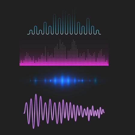 Ontwerp van equalizers voor digitale muziekequalizer. Stockfoto - 88052542