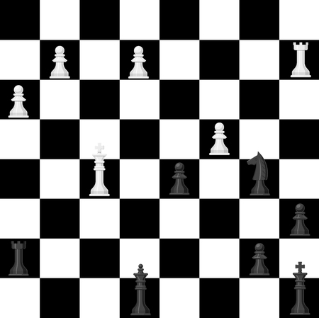 Chess board pattern.