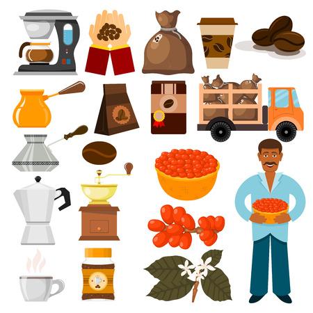 Coffee plantation illustration.