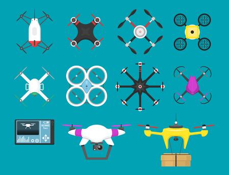 Illustration aerial vehicle drone. Illustration