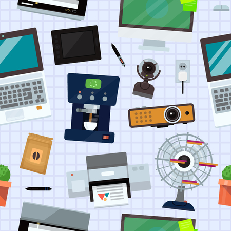 Computer kantoorapparatuur technische gadgets.
