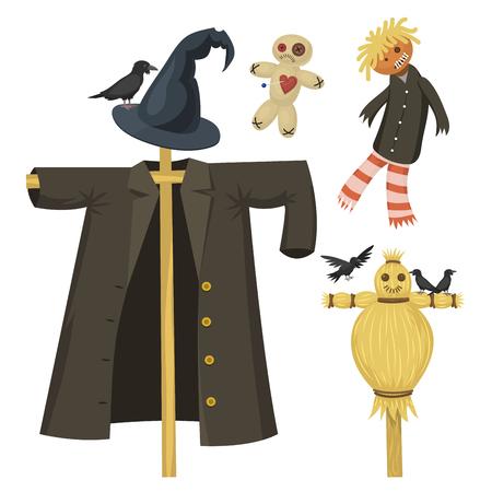 Verschillende poppen speelgoed karakter. Stock Illustratie