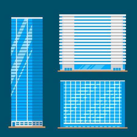Skyscrapers buildings. Illustration