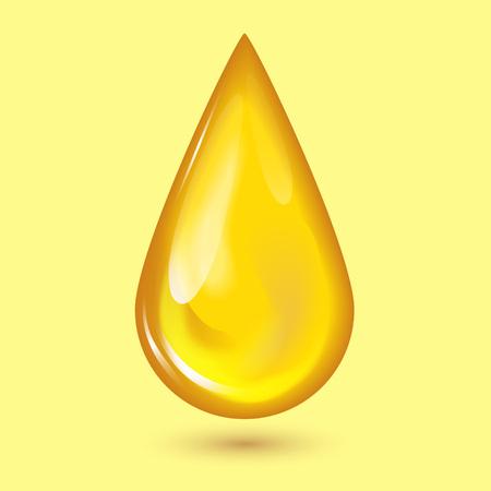 オレンジ蜂蜜の滴と黄色い水しぶき健康シロップ黄金食品液体点滴イラスト。