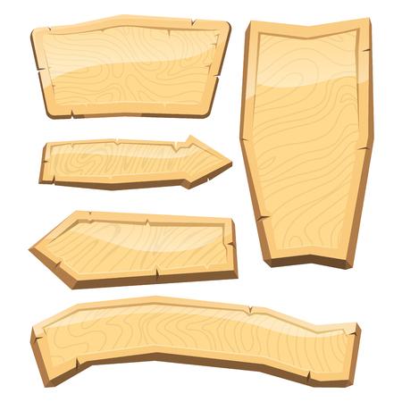 Gids houten uithangbord illustratie.