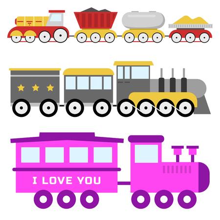漫画グッズ鉄道ベクトル鉄道と漫画運送ゲームは楽しいレジャーの喜びギフト機関車運輸です。  イラスト・ベクター素材
