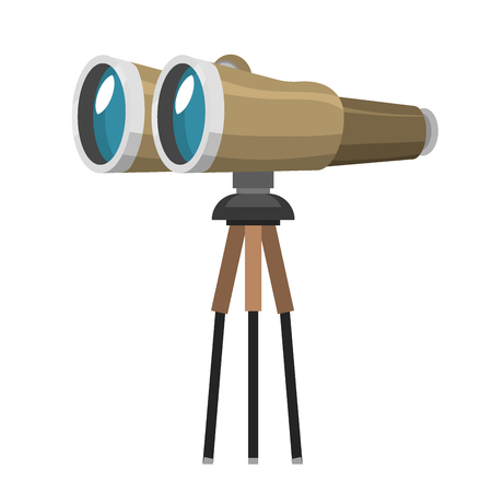 Professional camera lens binoculars Illustration