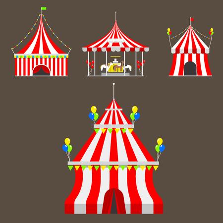 Entertainment red dome carnival park arena celebration Illustration