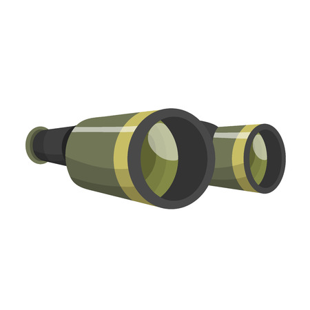Professional camera lens binocular glass look-see optic device camera digital focus optical equipment vector illustration