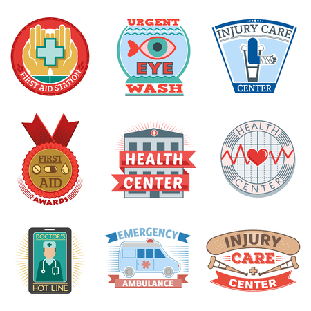 Illustration of medical emblem. Illustration