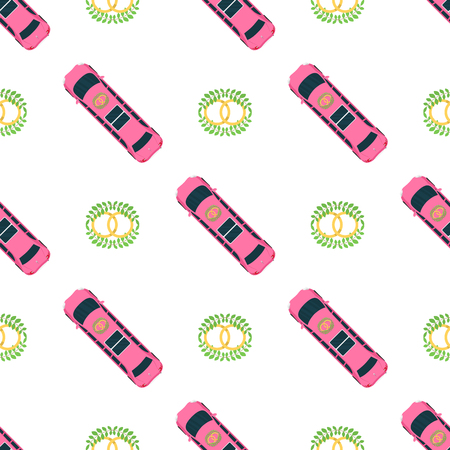 Top view colorful car toys seamless pattern background