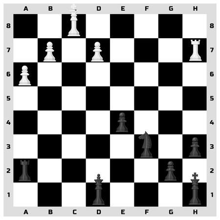 チェス ボードのシームレスなパターン背景
