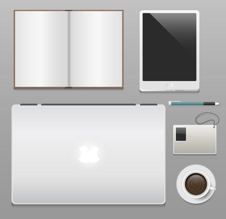 Premium corporate identity template vector illustration