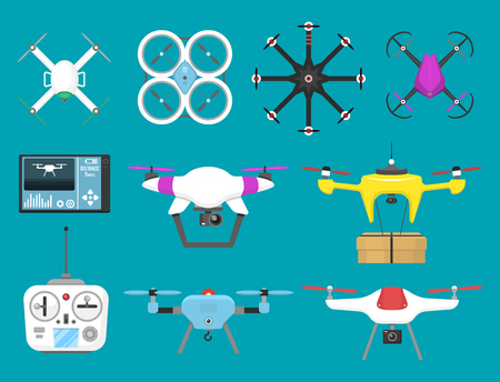 Aerial vehicle icons.