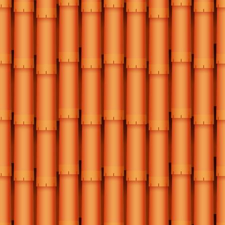 클래식 텍스처와 세부 지붕 타일 원활한 패턴 소재 벡터 일러스트
