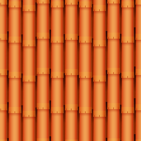 Roof tiles of classic texture and detail house seamless pattern material vector illustration