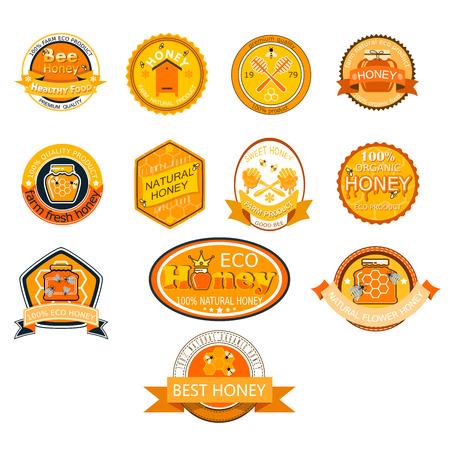 Honingbij en gouden lettertype illustratie Stockfoto - 90147229