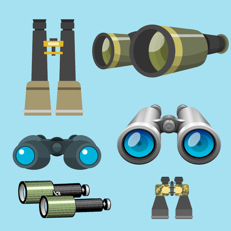 Professional camera lens, binoculars, glass look-see spyglass, optics device camera