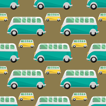 Retro vintage old style car vehicle automobile pattern.