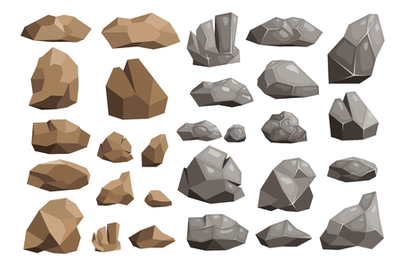 Set of rocks icons