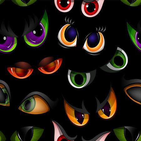 Animal eyeballs seamless pattern background Illustration