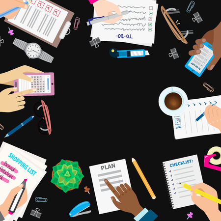 Agenda list concept vector illustration Illustration