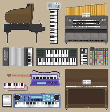 楽器セット  イラスト・ベクター素材