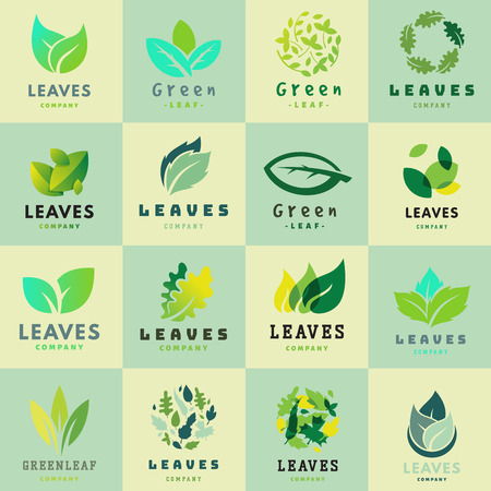 Green leaf Eco design symbol and natural element ecology organic vector illustration.
