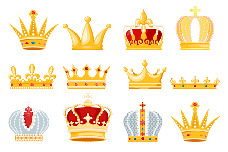 Different crowns image illustration Imagens - 97454529