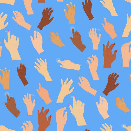 Human hand pointer cursor pattern design