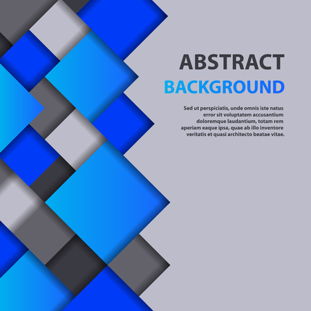 Abstract square background vector illustration texture creative graphic geometric cover trendy geometry wallpaper poster.  イラスト・ベクター素材