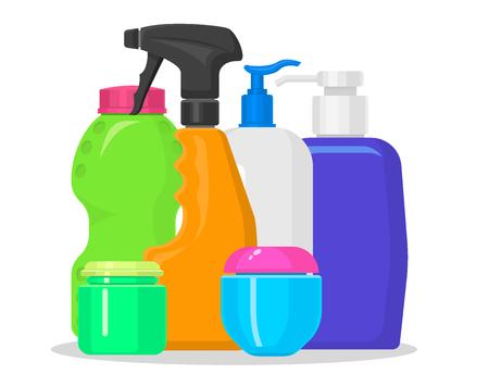 Bottles vector set illustration. Illustration