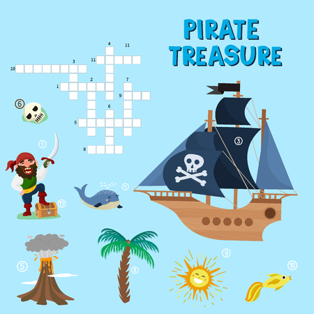 Pirate Treasure concept, Educational activities for kids.