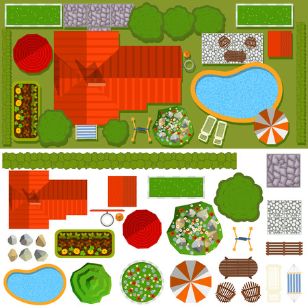 House vector illustration building isolated on white background Stock Illustratie
