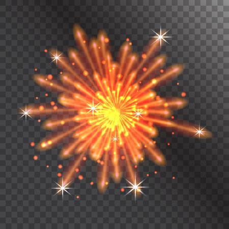 Firework vector illustration celebration holiday event night explosion light festive party. Illustration