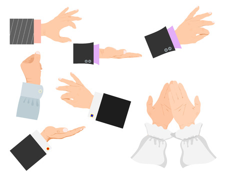 Businessman arm vector hands deafmute gestures human pointing people gesturing illustration Banque d'images - 98915854