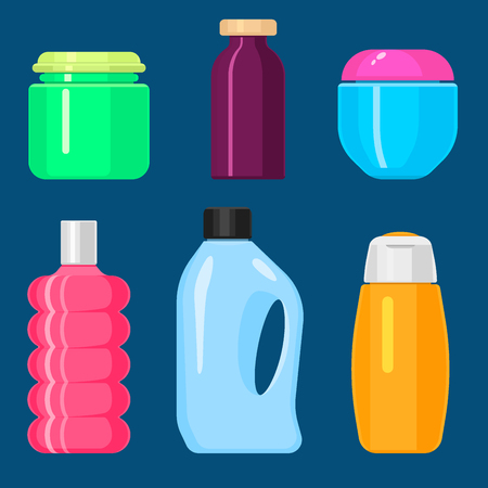Bottles vector household chemicals supplies and cleaning housework plastic detergent liquid domestic fluid bottle cleaner pack illustration. Sanitize soap antiseptic kitchen tool.