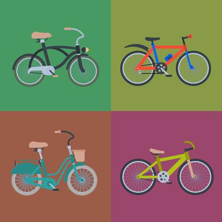 Bicycle illustration set