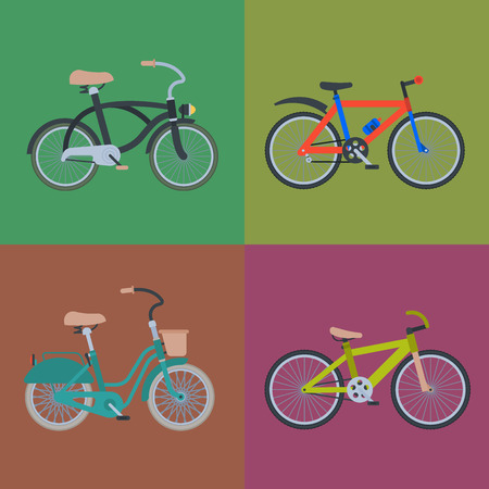 Bike sport bicycles vector transport style old ride vehicle summer transportation illustration hipster romantic travel ride wheel pedal cycle.
