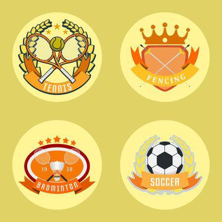 Sport game vector team logo play tournament label champion emblem league competition symbol athletic championship club professional tournament label illustration.