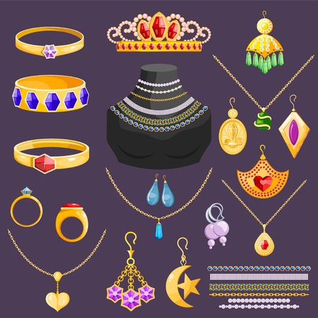 Accessories set illustration isolated on background
