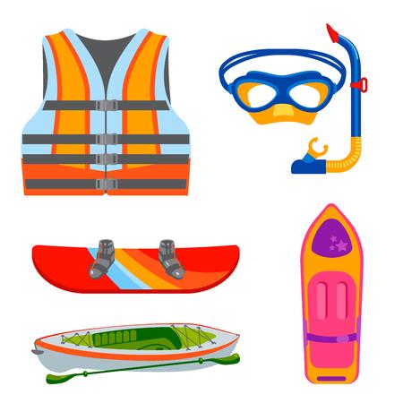 Surfing nature kayaking tools.
