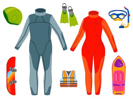 Fun water extreme sport kiteboarding surfer sailing leisure sea activity summer recreation extreme vector illustration. Stock Vector - 101107702