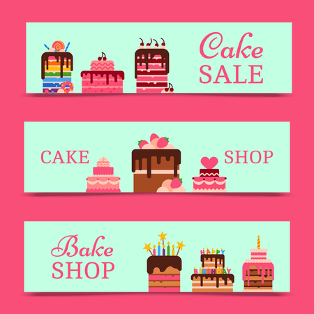 Chocolate and fruity desserts for pastry, bakery and sweet, bake shop design with fresh and tasty cupcakes, cakes, pudding, biscuits with fruits, whipped cream, glaze and sprinkles. Cake sale.