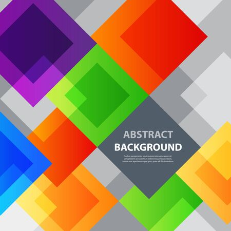 Abstract square background illustration texture creative graphic geometric cover trendy geometry wallpaper poster. Pattern design for banner poster flyer card postcard cover brochure 写真素材